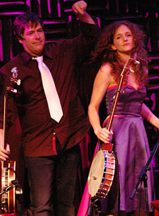 At a recent black tie gala, Bela Fleck and Abigail Washburn celebrated their victory over Crooked Still.