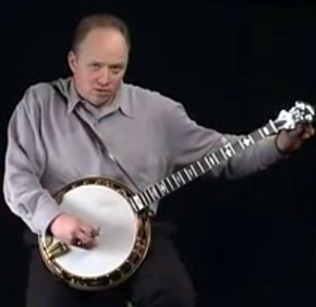 Jim Mills, seen here preparing for his last great banjo hunt, has recently disappeared deep in the Congolese wilderness.