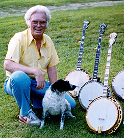 Curtis McPeake, a leading expert in vintage Gibson banjos, hordes them in a field guarded by a rabid dog.