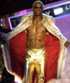 Since leaving basketball Rodman has taken part in pro wrestling bouts, movies, and reality television shows, and he even completed a stint as commissioner of something called the Lingerie Football League